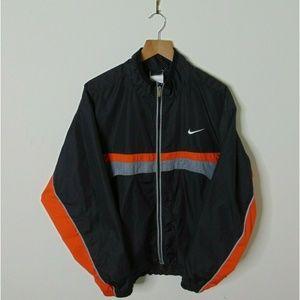 Vintage Nike L Full Zip Windbreaker Jacket Black